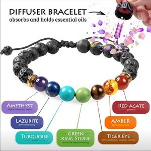 Jewelry - Diffuser lava stone bracelet